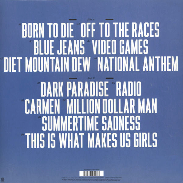 "Lana Del Rey ""Born To Die"" купить на виниловой пластинке ..."