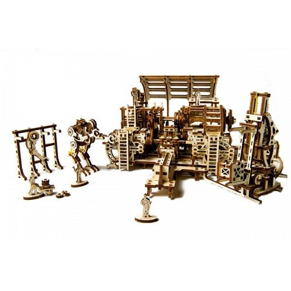 Конструктор 3D-пазл Ugears Фабрика роботов (70039)