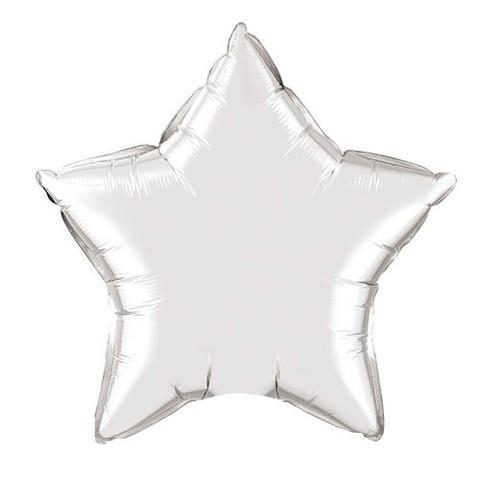 Звезда из фольги серебряная (46 см)