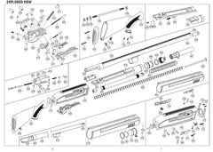 Hatsan -ESCORT Комплект дульных насадок 20к. (1,0;1/2;1/4;3/4) наружная