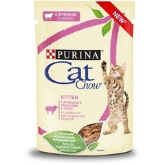 Cat Chow пауч для котят (с ягненком ) 85 гр 1 шт
