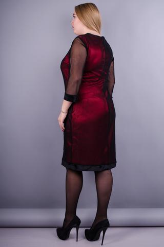 Роза. Вишукана сукня плюс сайз. Червоний.