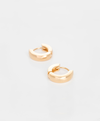 Серьги Tiny Chunky Hoops gold