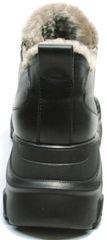 Модные женские кроссовки на танкетке зимние Studio27 547c All Black.