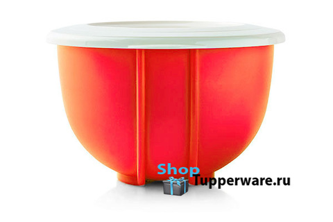 Двойное замесочное блюдо 1,5л в оранжевом цвете