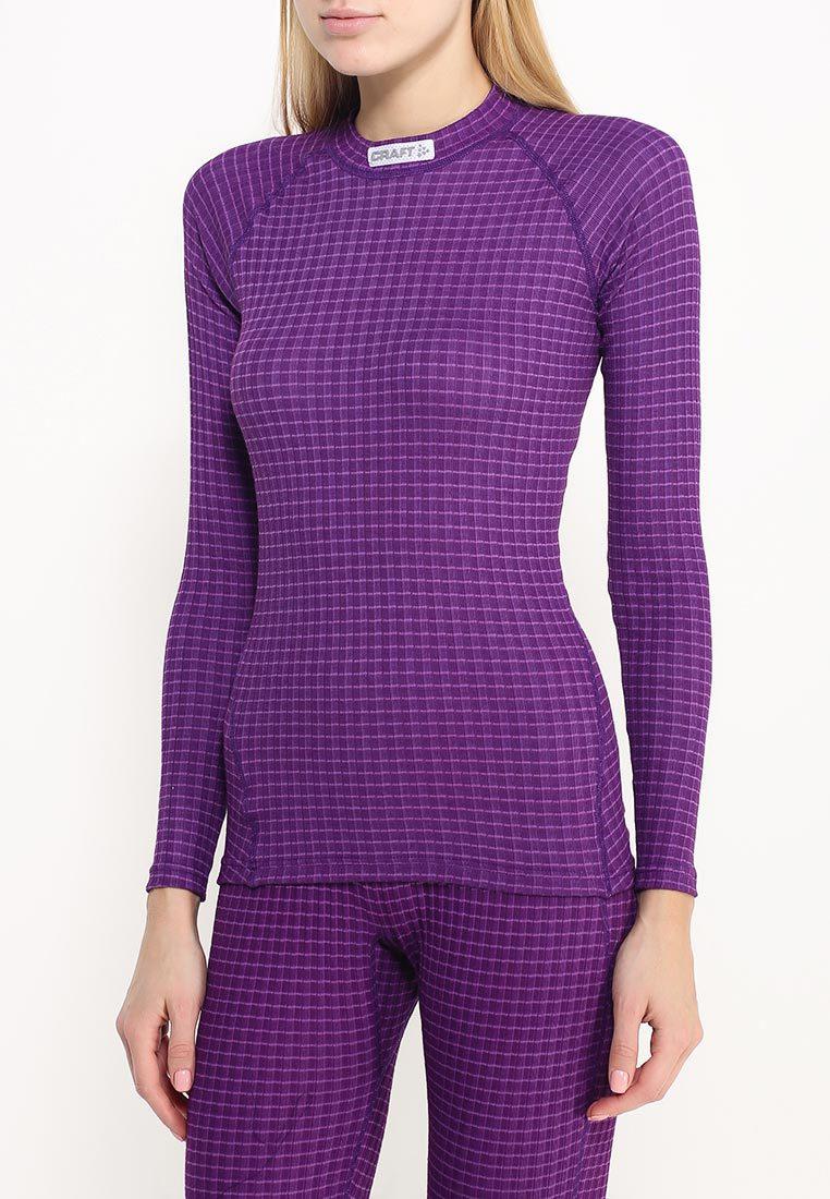 Женское термобелье рубашка Craft Warm Wool фиолетовая (1903724-2495) фото