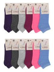7301 носки женские, цветные 36-41 (12шт)