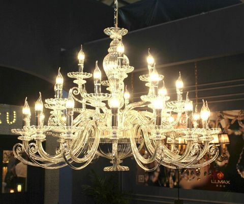 murano chandelier 12- 28 by Arlecchino Arts ( HK)