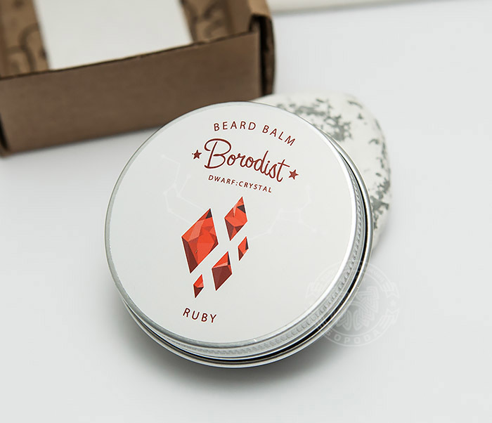 RAZ300 Бальзам для бороды Borodist «RUBY» с заживляющим эффектом (30 гр) фото 01