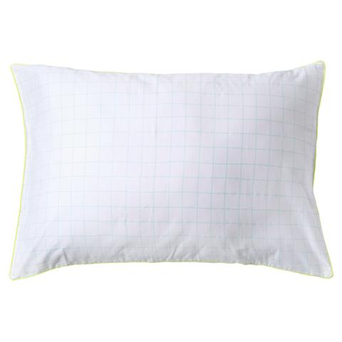 Наволочка на подушку в мятную клетку