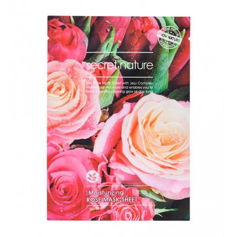Secret Nature Moisturizing  Rose Mask Sheet Увлажняющая маска для лица с розой 25мл