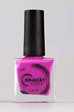 Лак для стемпинга Swanky Stamping №016, неоново-розовый, 10 мл.