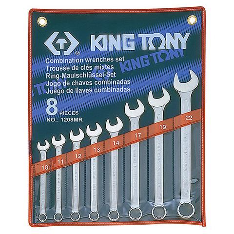 KING TONY (1208MR) Набор комбинированных ключей, 10-22 мм, 8 предметов