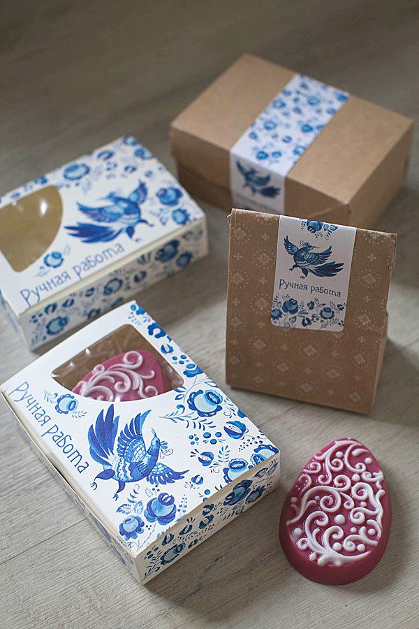 Бумажный пакет для мыла с рисунком Цветочный фон
