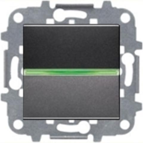 Переключатель одноклавишный c подсветкой. Цвет Антрацит. ABB Niessen Zenit. N2202 AN+N2271.9+N2192 RJ