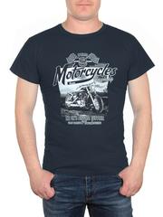 0721-4 футболка мужская, темно-синяя