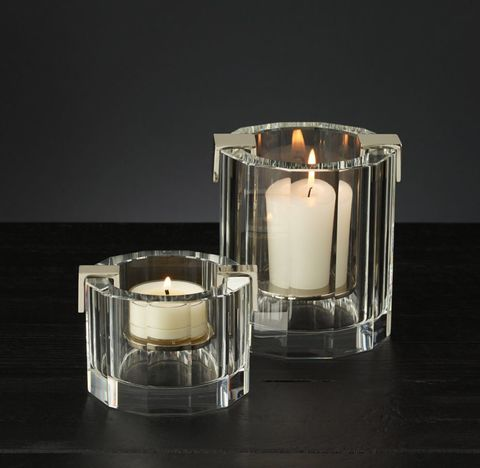 Cabanel Faceted Crystal 12-Sided Candleholder Collection