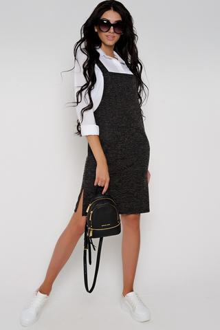 Ультрамодный сарафан для молодой шалуньи. Отличное дополнение  в Ваш повседневный гардероб.  (Длина: 44=75см; 46=76см; 48=79см; 50=83см; плюс бретелька 17см;)