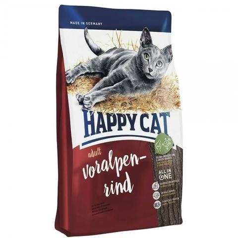 Happy Cat Supreme Voralpen Rind для взрослых кошек с альпийской говядиной 10 кг