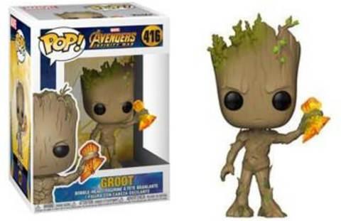 Фигурка Funko POP! Bobble: Marvel: Avengers Infinity War S2: Groot w/ Stormbreaker 35773