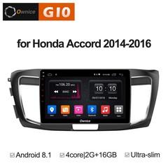 Штатная магнитола на Android 8.1 для Honda Accord 9 14-16 Ownice G10 S1642E