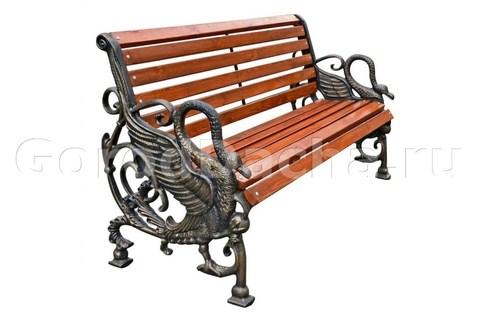 Скамейка чугунная «ЛЕБЕДЬ»