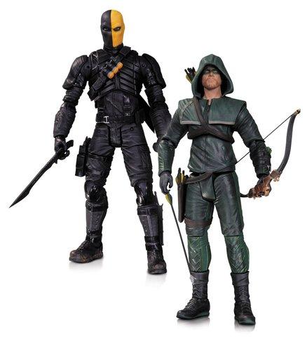 Набор фигурок Оливер Квин (Зеленая Стрела) и Дэфстроук - Arrow Oliver Queen and Deathstroke, DC Collectibles