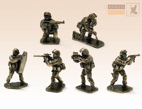 набор солдатиков Антитеррористическая группа Вымпел 6 шт.