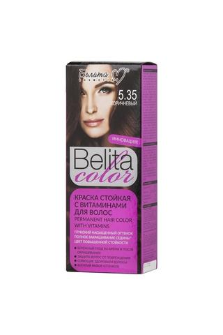 Белита-М Belita Color Стойкая краска с витаминами для волос тон №05.35 Коричневый