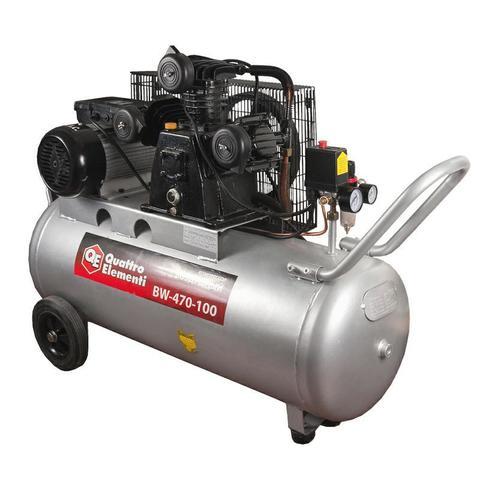 Компрессор поршневой масляный QUATTRO ELEMENTI BW-500-100 ( 490 л/мин, 100 литров,  3,0 л.с, 8 бар, 74,5 кг, V-образн/ Ременной)