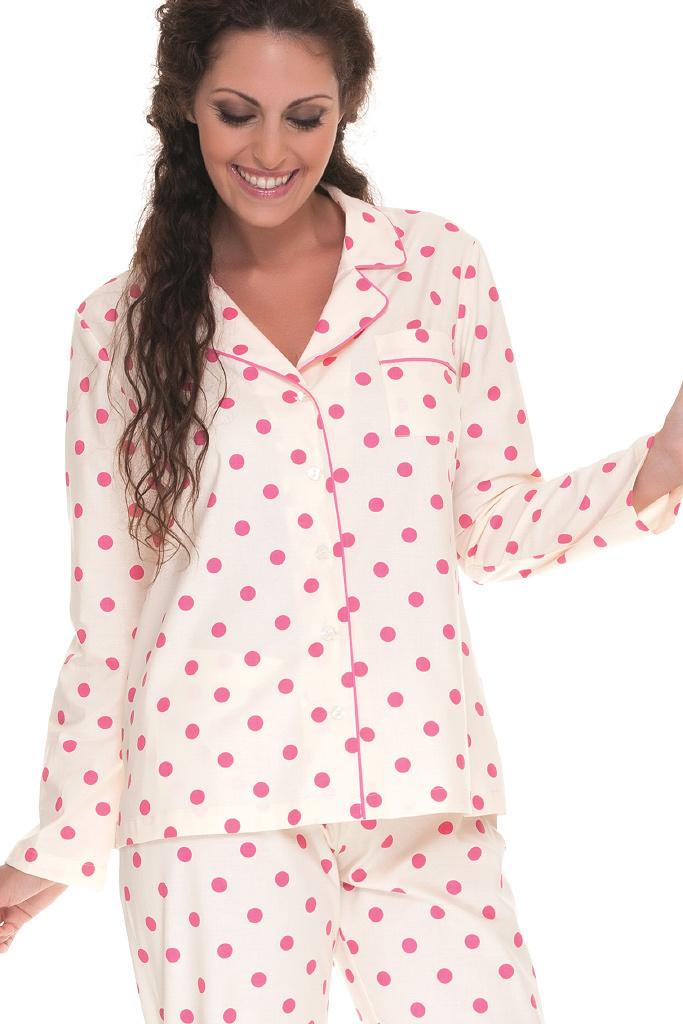 Женская пижама в розовый горох DolceVita