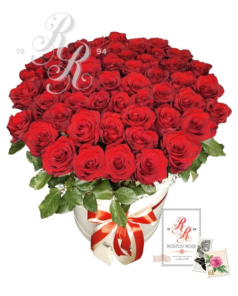 Красная роза в коробке