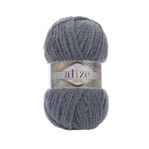 Купить Пряжа Alize Softy Plus Цвет 87 Темно-серый | Интернет-магазин пряжи «Пряха»