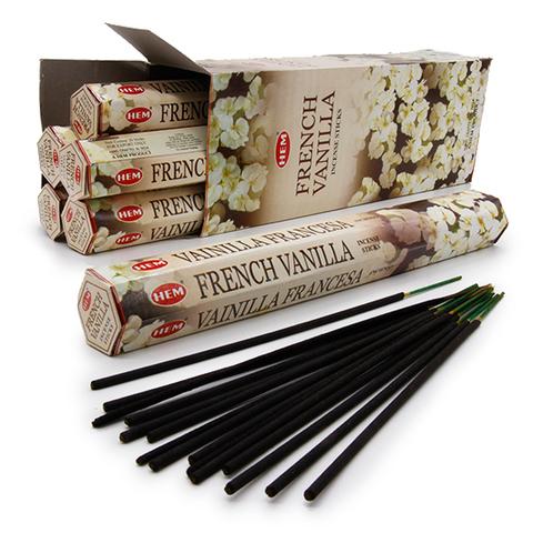 Благовония HEM Hexa HEM Hexa FRENCH VANILLA французская ваниль, 20 г (20 ароматических палочек)