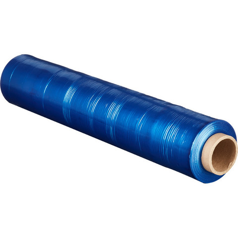 Стрейч-пленка для ручн.упак 180% 23 мкм 50 смx190м синяя 2кг нетто