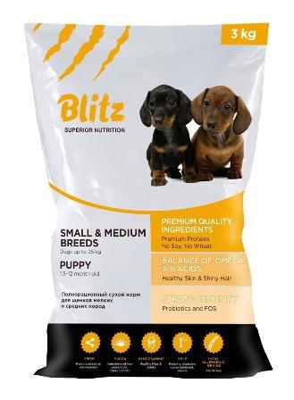 Blitz Корм Blitz для щенков мелких и средних пород — Puppy Small & Medium blitz_medium_puppy_3kg-для-сайта.jpg