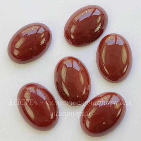 Кабошон овальный Агат Красный 25х18х7 мм