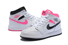 Air Jordan 1 Retro GS 'White/Pink'