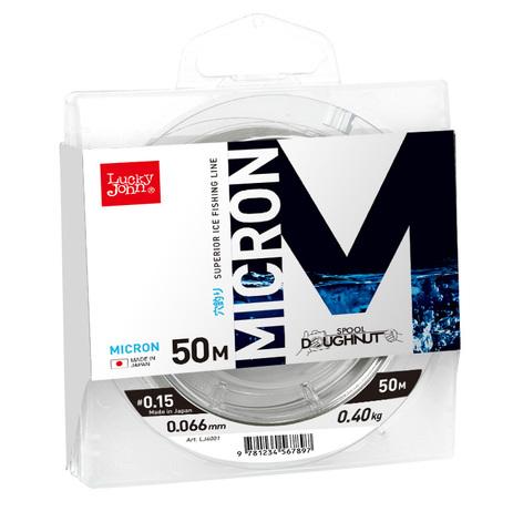 Леска монофильная LUCKY JOHN Micron, зимняя, 50 м - 0.108 мм, прозрачная