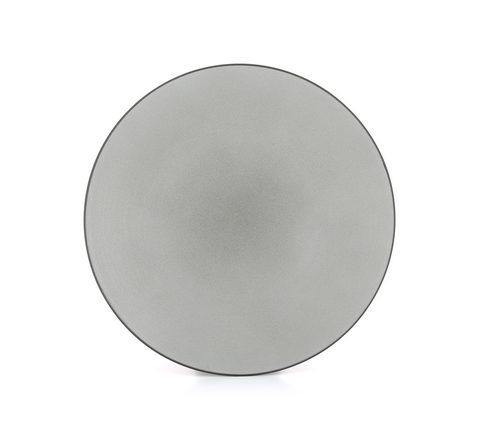 Фарфоровая обеденная тарелка Pepper 24 см, серая, артикул 650431, серия Equinoxe