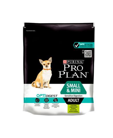 Pro Plan сухой корм для собак мелк/карл чувствительным пищеварением (ягненок, рис) 700 г
