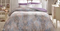 Постельное белье  GATSBY фиолетовый TIVOLYO HOME Турция