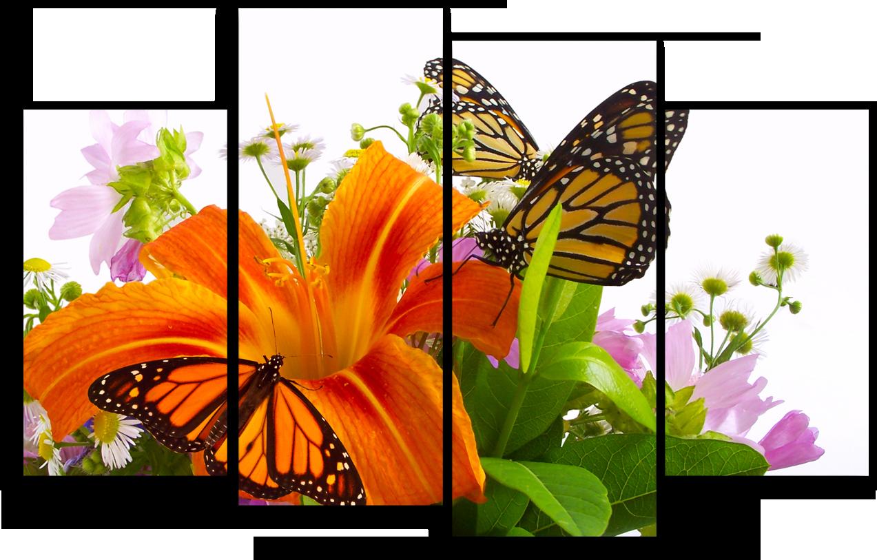"""Цветы Модульная картина """"Тигровая лилия"""" М945.png"""
