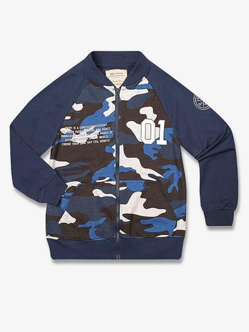 BAC003663 Джемпер для мальчиков, разноцветный/синий