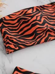 купальник бандо тигровый принт оранжевый