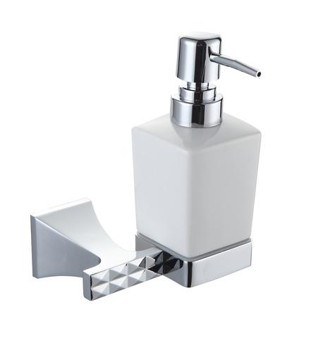 Дозатор жидкого мыла, серия GRANI (Хром)