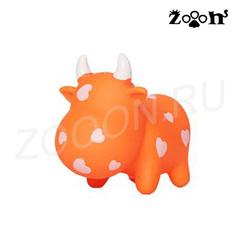 Hunter Smart игрушка для собак Коровка, винил оранжевая 13 см
