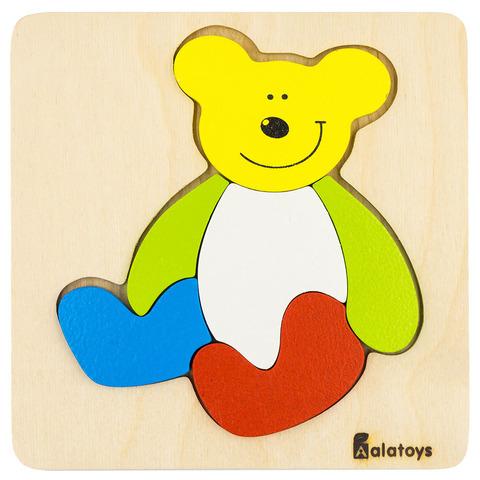 Рамка-вкладыш Alatoys Пазлы Медведь ПЗЛ1805