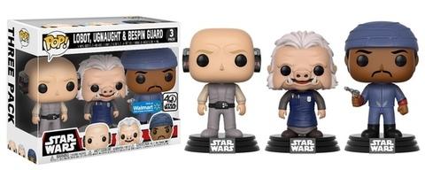 Фигурки Funko Pop! Star Wars - Cloud City 3-pack (Lobot, Ugnaught, Bespin Guard) (Excl. to Walmart)