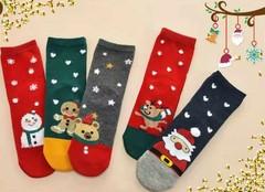Носки детские новогодние  (5 пар) арт.D007-2 (разм 5-8 )